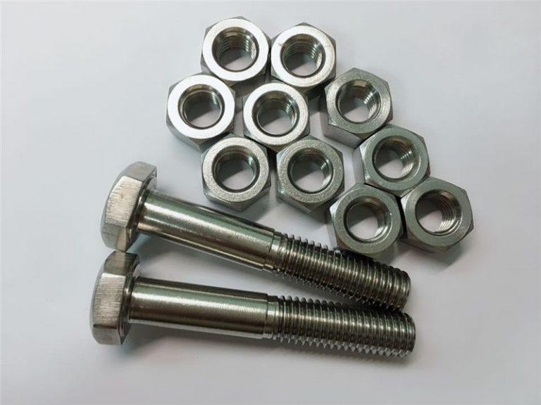 aliaj de 20 de șuruburi și piulițe de fixare din oțel inoxidabil n08020