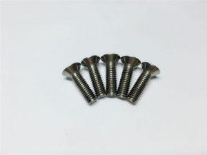 M3, M6 șurub din titan cu șurub cu cap plat cu șuruburi șuruburi cu flanșă din titan pentru chirurgie a coloanei vertebrale