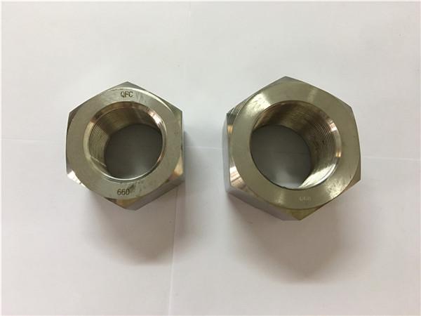 fabricați aliaje de nichel a453 660 1.4980 piulițe hex