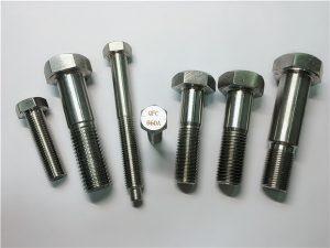 Nr. 25-Incoloy a286 șuruburi hexagonal 1.4980 a286 elemente de fixare gh2132 oțel inoxidabil feronerie mașină fixare cu șurub