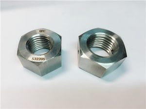 Nr. 76 Duplex 2205 F53 1.4410 S32750 elemente de fixare din oțel inoxidabil cu piuliță hexagonală
