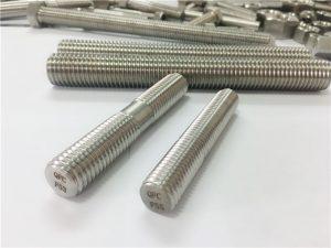 Elementele de fixare din oțel inoxidabil prelucrate automate tijă filetată cu capăt dublu