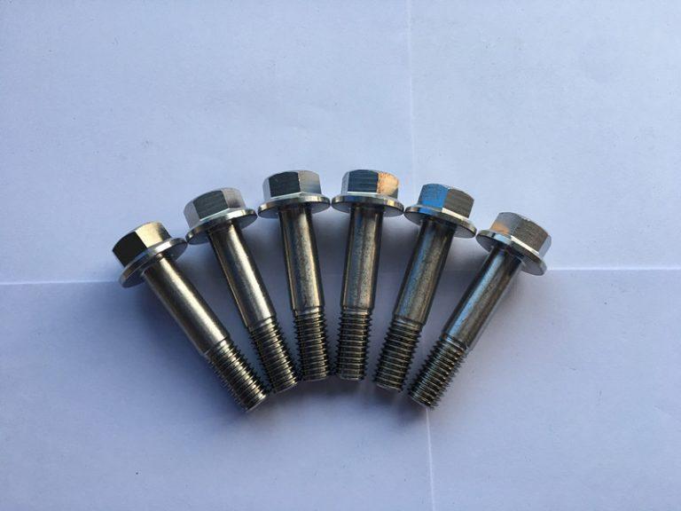 din 7504 sudin 7504 super duplex f55 oțel inoxidabil șurub cu flanșă hexagonală șurub auto-foraj